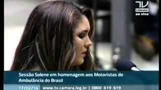 Paola faz homenagem aos Motoristas de Ambulância do Brasil