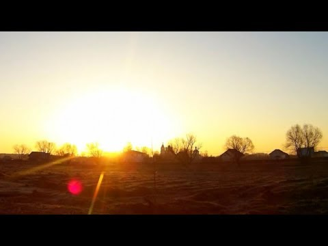 Красивый весенний, подмосковный рассвет. Таймлапс. (видео)