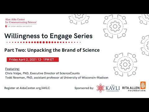 Willingness to Engage, Part 2: Unpacking the Brand of Science