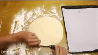 Очень легкий пирог роза с шоколадной начинкой