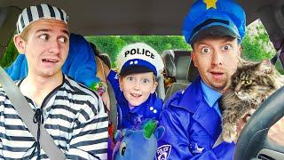سوبر رجال الشرطة مفاجأة ايلي في الرقص سيارة ركوب