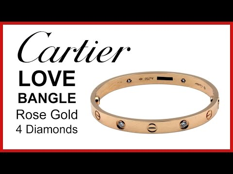 Cartier Love Bangle, Diamond UNBOXING & REVIEW – Rose Gold, Ladies Bracelet, B6036017