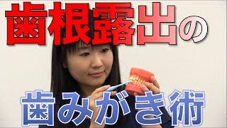 歯の根が露出した部分の磨き方