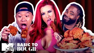 Would You Eat This $15 Fried Chicken? ft. Justina Valentine | Basic to Bougie Season 2 | MTV