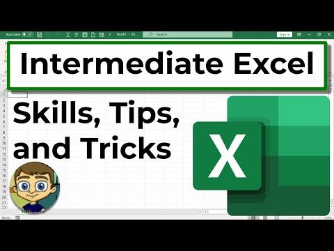 Intermediate Excel Skills, Tips, and Tricks Tutorial - YouTube