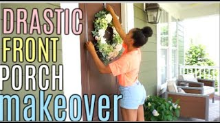 FRONT PORCH MAKEOVER | CLEAN AND DECORATE | SUMMER 2019