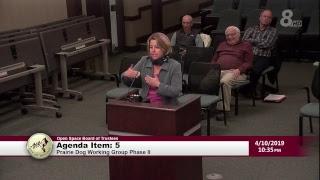 City Of Boulder Open Space Board Of Trustee Meeting 4-10-19