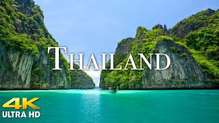 FLYING OVER THAILAND (4K UHD) - Beautiful Nature Scenery with Relaxing Music   4K VIDEO ULTRA HD
