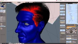 Creating a Realistic Head in Blender -- part 09b -- Creating Hair
