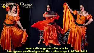 Roupas Ciganas   Gypsy Clothing   La Roupa Gitana  Laranja Com Preto