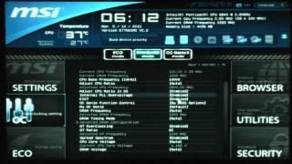 MSI Z77A-G43 - Túra a BIOS-ban