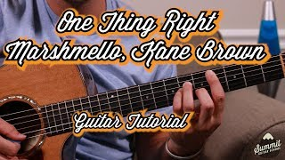 One Thing Right  Marshmello  Kane Brown  Guitar Tutorial  Guitar Lesson