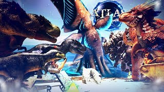ARK Extinction VS Atlas - Pirates & Sea Monsters Battle Dinosaurs, Wildcard's Huge Fight! - Gameplay