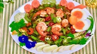Winged bean pork and chrim salad recipe
