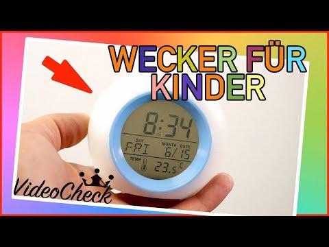 """Kinder Wecker mit LED  """"TEST REVIEW DEUTSCH"""""""