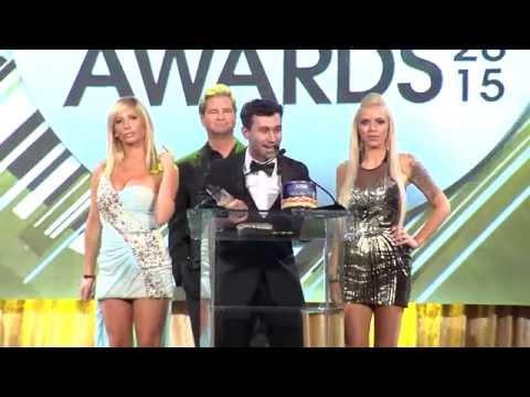 2015 XBIZ Awards - James Deen Wins 'Male Performer of the Year' Award