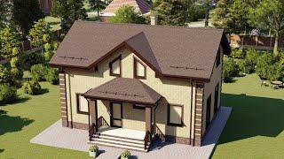 Проект дома 149-D, Площадь дома: 149 м2, Размер дома:  12x8,5 м