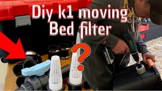 DIY koi pond ***how to make a k1 moving bed filter*** EPIC UPGRADE