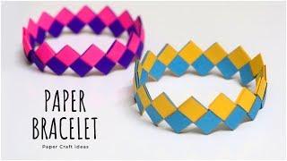 DIY Paper Bracelet | Wrist Band | Friendship Bracelets | Friendship Band | Paper Craft