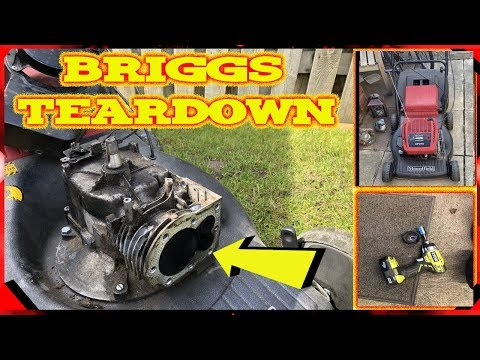 Briggs And Stratton Lawnmower Engine TEARDOWN