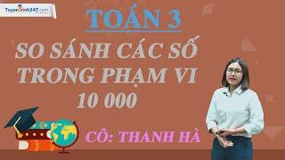 So sánh các số trong phạm vi 10 000 – Toán 3 – cô Thanh Hà