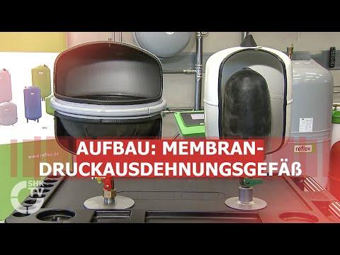 Reflex: Aufbau eines Membran-Druckausdehnungsgefäßes