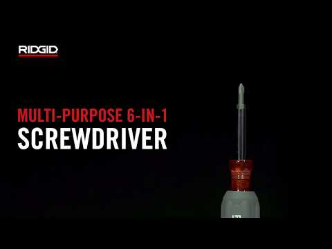 RIDGID Multi-Purpose 6-in-1 Screwdriver