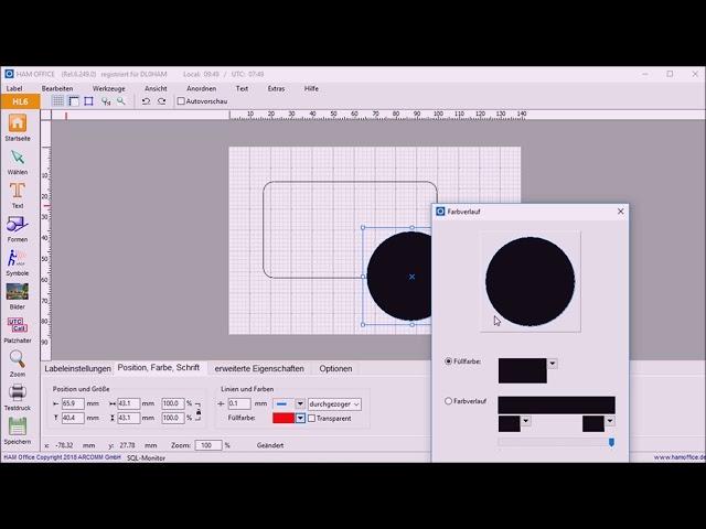 Youtube-Startbild zu QSL-Druck (Video 3): Die Möglichkeiten von HAM OFFICE .mein Logbuch & HAM LABEL voll ausnutzen!