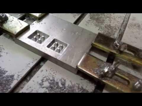3D раскрой алюминия на ЧПУ станке. Форма для вафельницы