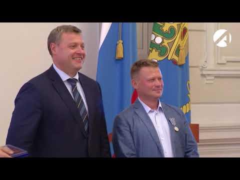 На приёме ко Дню рыбака лучших рыбаков наградил врио губернатора Игорь Бабушкин