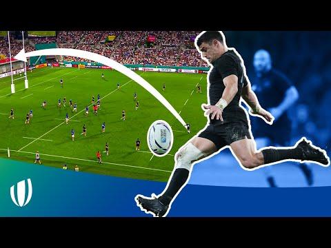 The LONGEST drop goals in Rugby World Cup History   Dan Carter Stuart Hogg & Zinzan Brooke