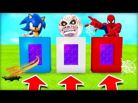 NEVYBER SI ŠPATNÝ PORTÁL V MINECRAFTU! (Sonic, Lunar Moon, Spiderman)