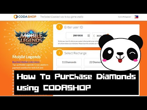 How to use Codashop to Purchase Diamonds, Starlight Membership and others for Mobile Legends