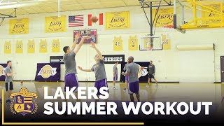 Ivica Zubac Larry Nance Jr DAngelo Russell and Jordan Clarkson putting in