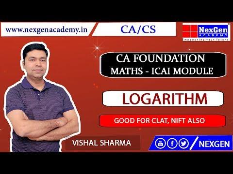 Logarithm - Concept II ICAI Module II CA Foundation Maths