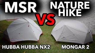 Vergleich von NatureHike Mongar VS MSR Hubba Hubba NX