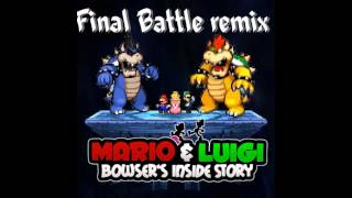 mario and luigi bowsers inside story final boss remix