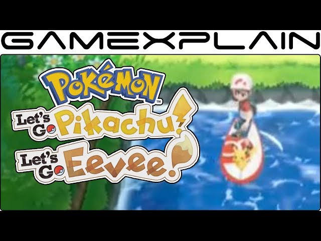Pokémon Let's Go Pikachu & Eevee - Surfing Pikachu & HM Replacement Revealed + New Moves!