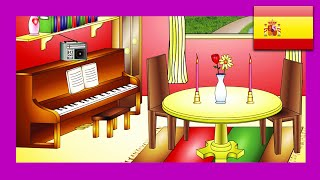 """In the Dining Room"" (Spanish Lesson 14) CLIP - Comedor, Learn Español in 1 Minute, Teach"