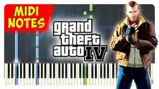 GTA IV - Theme Song Piano Cover (Piano Sheet + midi)