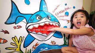 Làm Con Cá Mập Đói Biết Há Miệng bằng Giấy Khổng Lồ | DIY Shark Open Mouth Paper Crafts