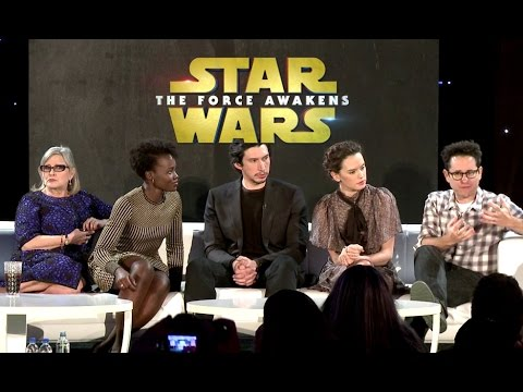 VIDEO: STAR WARS - THE FORCE AWAKENS - Conferência de Imprensa Oficial Completa
