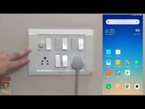 Tinxy Four Channel Smart WiFi Switch, Compatible with Alexa