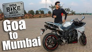 Goa to Mumbai Ride on Yamaha R1 1000cc | IBW 2017