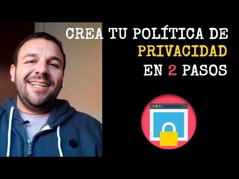 Crea una política de privacidad para tu sitio web en sólo 2 pasos