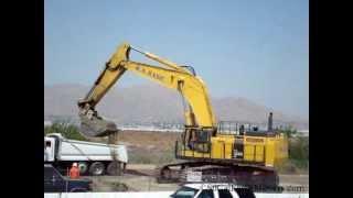 Komatsu PC1250 loading street truck