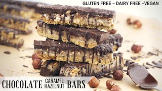 Gluten Free Caramel Slice / Bars (Dairy Free, Vegan)