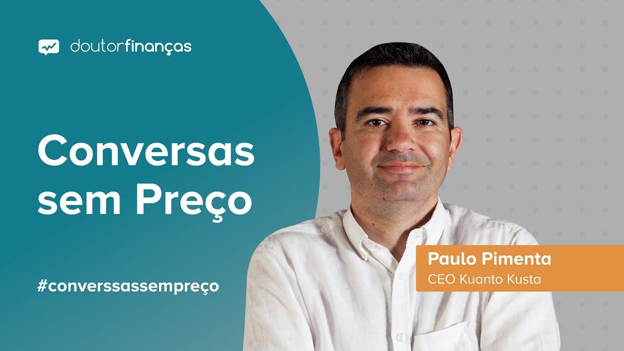 Imagem de um computador onde se vê o programa Conversas sem Preço com a entrevista a Paulo Pimenta, CEO do Kuanto Kusta