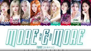 TWICE – 'MORE & MORE' [English Version] Lyrics [Color Coded_Eng]