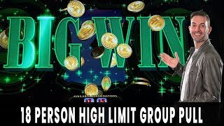 💸 $3600 in $25 Spins! 🎉 High Limit GROUP PULL 💵 Green Machine Deluxe & Cash Machine